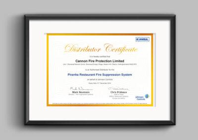 Ansul-piranha-certificate-Cannon