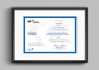 Ansul-piranha-certificate-craig