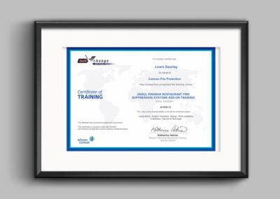 Ansul-piranha-certificate-lewis
