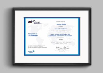Ansul-piranha-certificate-rachael